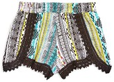 Flowers by Zoe Girls' Lace-Trimmed Tribal Print Shorts - Sizes S-XL