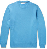 Brunello Cucinelli Slim-fit Cashmere Sweater - Blue