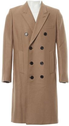 Saint Laurent Beige Wool Coats