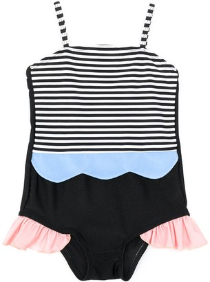 Wauw Capow By Bangbang Maria Mermaide striped swimsuit