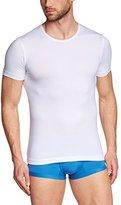 Olaf Benz Men's Crew Neck Short Sleeve Vest - White -