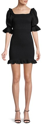 Allison New York Smocked Puff-Sleeve Dress