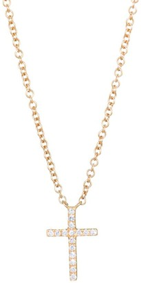 Ef Collection Diamond and 14K Yellow Gold Cross Necklace