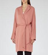 Reiss Manhattan - Fluid Trench Coat in Pink, Womens