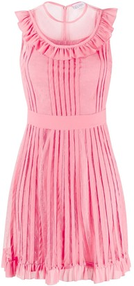 RED Valentino Ruffle-Detail Pleated Dress