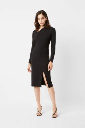French Connection Beata Ponte Asymmetric Neck Dress