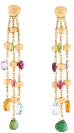 Marco Bicego 18K Multistone Three Strand Paradise Earrings