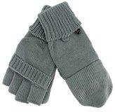 Luxury Divas Knit Half Fingerless Thumbs Mitten Gloves