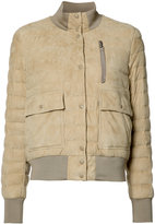 Moncler quilted puffer jacket - women - Feather Down/Sheep Skin/Shearling/Polyamide/Feather - 1