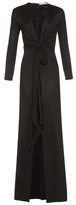 Givenchy Deep-neck front-slit gown