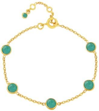 Antibes Amazonite & Gold Vermeil Bracelet