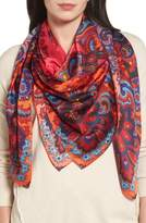 Echo London Nights Square Silk Scarf