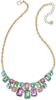 Charter Club Gold-Tone Multi-Crystal Statement Necklace, Only at Macy's
