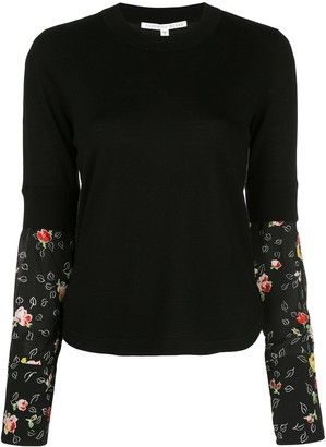 Veronica Beard knitted jumper with silk sleeves