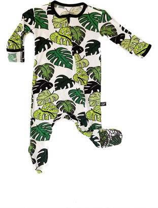 Peregrine Kidswear Palm Leaves Print Fitted One-Piece Pajamas