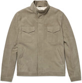 Loro Piana - Slim-fit Nubuck Bomber Jacket