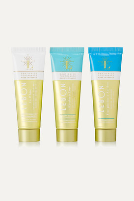 Lebon Blue Gift Set: Le White, Rhythm Is Love And Une Piscine A Antibes Toothpaste, 3 X 25ml