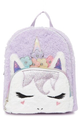 OMG Accessories Miss Gwen Unicorn Faux Fur Backpack
