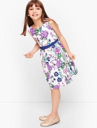 Talbots Girls Botanical Gardens Fit & Flare Dress