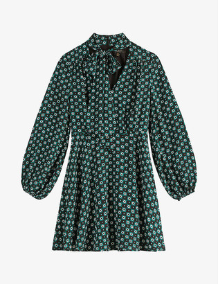 Ted Baker Dolley geometric-print woven mini dress