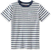Joe Fresh Kid Boys' Stripe Tee, Dark Blue (Size L)