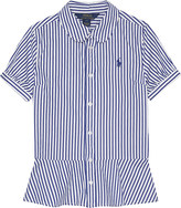 Ralph Lauren Striped cotton peplum shirt 7-16 years
