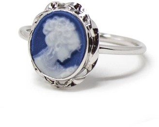 Vintouch Italy Blue Mini Cameo Stacking Ring