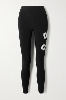 Norma Kamali Omo Printed Stretch-jersey Leggings - Black