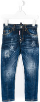 DSQUARED2 distressed jeans - kids - Cotton/Spandex/Elastane - 4 yrs