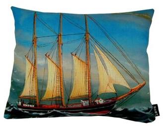 Lava O Ship Indoor/Outdoor Throw Pillow