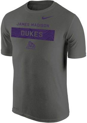 Nike Men's Charcoal James Madison Dukes 2018 Sideline Legend Lift Performance T-Shirt