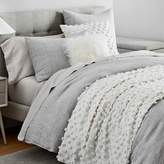 west elm Frost Gray Belgian Flax Linen Fiber Dyed Bedding Set