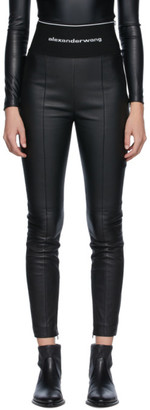 Alexander Wang Black Leather Leggings