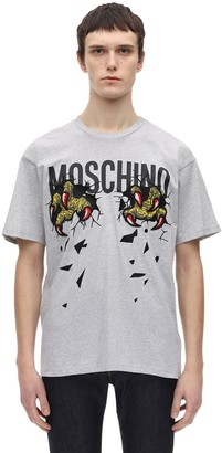 Moschino Dinosaur Logo Cotton T-Shirt