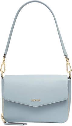 Calvin Klein Ava Demi Leather Shoulder Bag