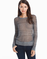 White House Black Market Racerback Pullover Sweater