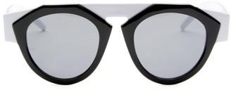 Smoke X Mirrors x FIORUCCI Black & White Round Sunglasses