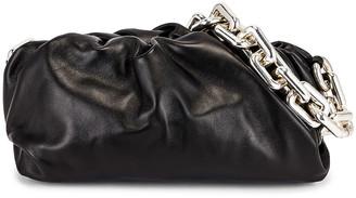 Bottega Veneta The Chain Pouch Bag in Black & Silver | FWRD