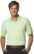 Chaps Big & Tall Classic-Fit Striped Performance Golf Polo