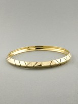 House of Harlow 1960 Goldtone Engraved Stack Bangle