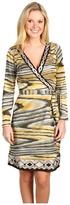 Hale Bob Spring Into Fashion Wrap Dress (Neutral) - Apparel
