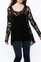 Bella Amore Black Lace Tunic