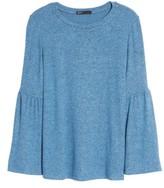 Gibson Women's Bell Sleeve Cozy Fleece Pullover