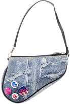 Christian Dior Denim Saddle Bag