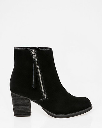 Le Château Suede Almond Toe Ankle Boot