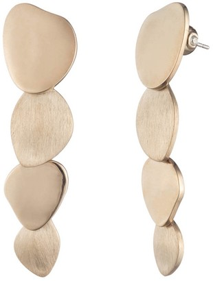 Carolee Golden Hour Layered Disc Linear Drop Earrings