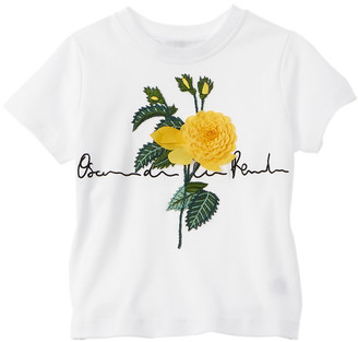 Oscar de la Renta Embroidered Flower T-Shirt
