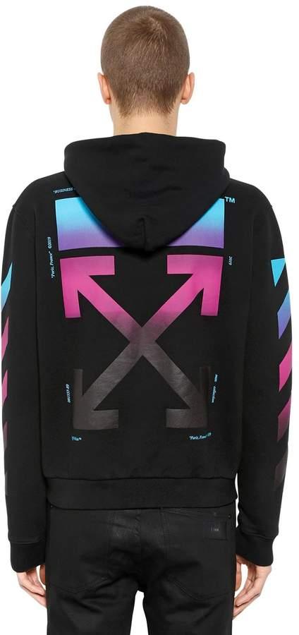 Off-White Gradient Arrows Zip-Up Sweatshirt Hoodie
