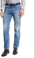 Ermenegildo Zegna Light Wash Luxe Denim Jeans, Blue