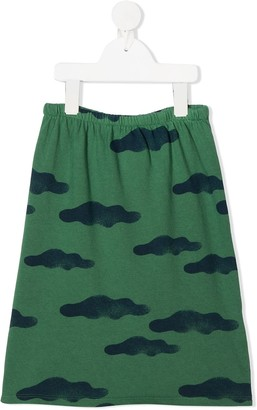 Bobo Choses Elasticated Cloud Print Skirt